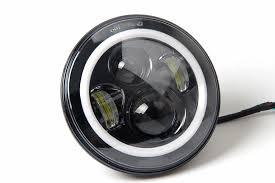 headlights jeep wrangler jeep wrangler 7 inch led halo headlight st stereo