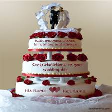 wedding wishes editing write your name on big wedding cake wishes pictur
