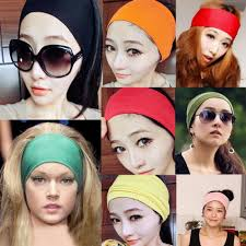 hair bands new women colored wide headband stretch hairband