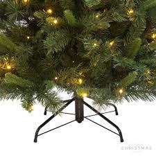 Pencil Christmas Tree Pre Lit Uk by Pre Lit Tree Noya Slim 215cm 290led Christmasdecorations Co Uk