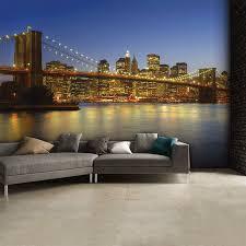 colourful new york brooklyn bridge night wall mural 3 15 x 2 32m colourful new york brooklyn bridge night wall mural 3 15 x 2 32m