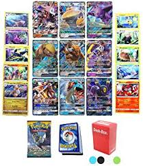 amazon black friday deals for pokemon packs amazon com 6 pokemon cards gx guaranteed plus deck box