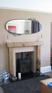 fire surround 12 5 x 12 5cm rustic air dried oak beam mantle