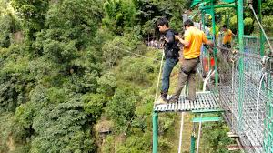 eastern and western ghats travelhi5 bungee jumping at jagdalpur in eastern ghats of