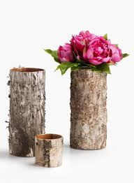 birch bark glass vase natural decor elements fall holiday centerpieces