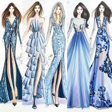 design dress ilustration pinteres
