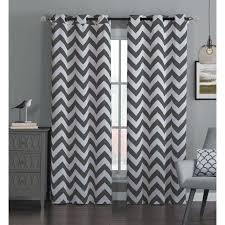 amazing gray and brown curtains and best 25 grey chevron curtains