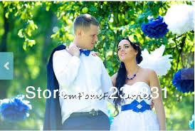 royal blue tissue paper wedding events 100 white royal blue tissue paper pom poms white