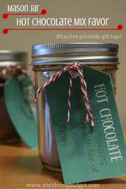 jar favors jar hot chocolate mix favors plus free printable gift tags