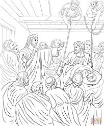 jesus heals the man at the pool of bethesda coloring page free