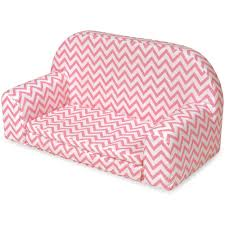 Fold Out Bed by Badger Basket Upholstered Doll Sofa With Foldout Bed Pink Chevron