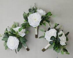 wedding flowers greenery greenery bouquet etsy