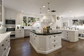 White Kitchen Cabinets With Dark Countertops Dark Countertops Custom Home Design
