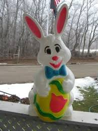 Vintage Plastic Easter Decorations by Empire Blow Mold Easter Bunny Rabbit Lighted Vintage 22