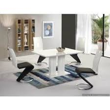 White Gloss Extendable Dining Table Arctic Black Glass And White High Gloss Extending Dining Table
