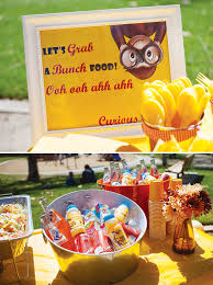 curious george party ideas gender neutral curious george birthday party hostess with the