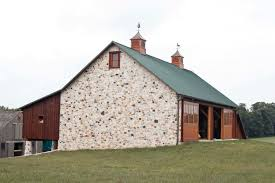 The Stone Barn The Stone Gable Adds A Special Touch To This Bank Barn Built By