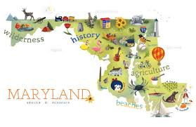maryland map 7 hilarious maps of maryland