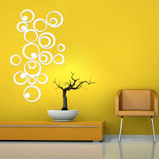 Mirror Wall Decals And Wall by Diy 25pcs Artistic Round Wall Stickers Silver 3d Acrylic Mirror