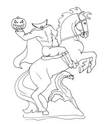 headless horseman coloring pages headless horseman coloring page