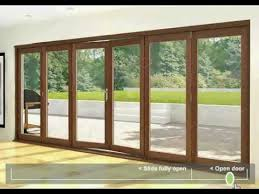 Collapsible Patio Doors Folding Sliding Doors Hardwood 6 Door