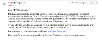 Rutgers Resume I Am A Finalist For The Rutgers Offensive Assistant Head Coach