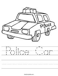 police car worksheet twisty noodle