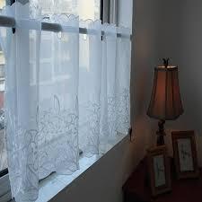 petit rideau de cuisine blanc translucidus broderie lotus voile cuisine rideau petit rideau