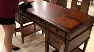 hekman desk leather top leather top leg desk by hekman furniture home gallery stores youtube