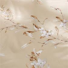 vintage botanical blooming branches print bedding romantic floral