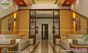 main bedroom bifurcated stair living and courtyard kerala home