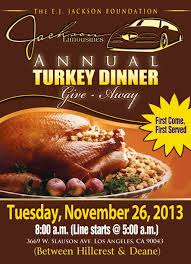 jackson limousine s annual turkey dinner give away the buzz