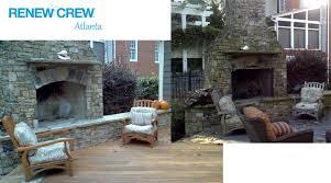 Clean Fireplace Stone by Hardscape Stone U0026 Patio Cleaning Renew Crew Of Atlanta