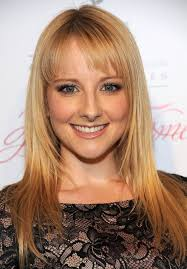 haircut for wispy hair melissa rauch cute long straight hairstyle with wispy brow length