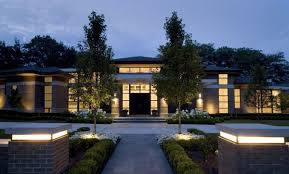 Patio Column Lights Using Outdoor Symmetry When Designing The Landscape