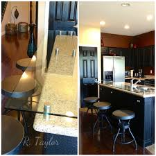 Kitchen Island And Breakfast Bar by Added Tempered Glass To Raise And Extend Kitchen Island To Be