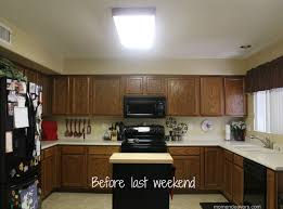 kitchen lighting replace fluorescent light fixture in square brown