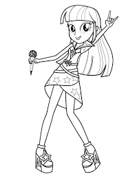 equestria girls twilight sparkle coloring pages coloringstar