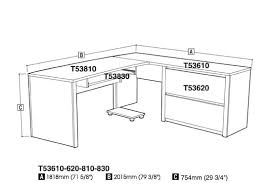 Bestar Connexion L Shaped Desk Bestar 93862 Connexion Modern L Shaped Computer Desk
