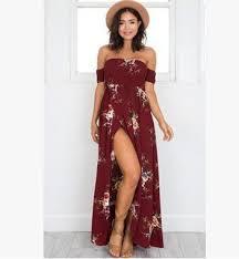 floral maxi dress floral the shoulder slit maxi dress avalon88