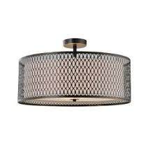 Flush Ceiling Shower Head by Woodbridge Lighting 16635brz Bronze Spencer 3 Light 16 15 16