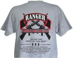 Army Ranger Flag Army Ranger Silk Screen Grey Tee Shirt North Bay Listings