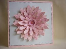 layered flower cards mementoes in time