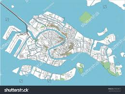Map Of Venice Colorful Venice Vector City Map Stock Vector 709659073 Shutterstock