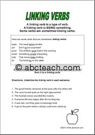 linking verb worksheets mreichert kids worksheets