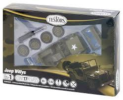jeep model kit amazon com testors jeep willys model kit 1 32 scale toys