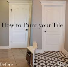 Diy Bathroom Floor Ideas - the who painted her tile what remington avenue