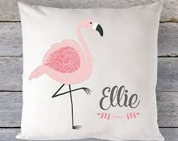 flamingo pillow etsy