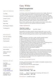 Resume Templates For Receptionist Position Hotel Receptionist Resume Sample Receptionist Position Resume