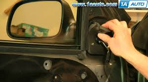 how to install replace side rear view mirror jeep grand cherokee